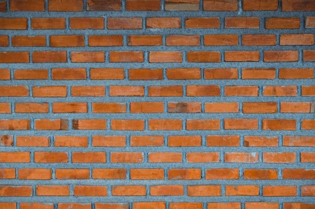 Fond de fragment de mur de brique rouge ou couche de brique bâtiment texture.