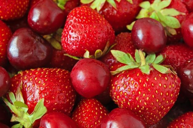 Fond de fraise et de cerise