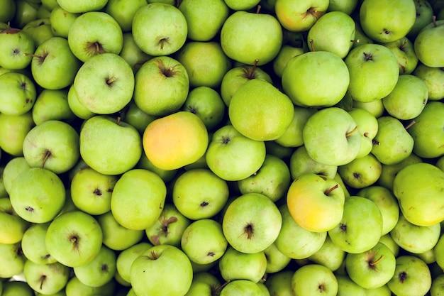 Fond de fruits crus pomme verte produit frais biologique sain naturel