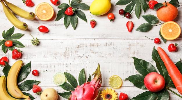 Fond de fruits et légumes frais