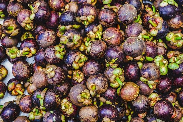 Fond de fruits mangoustans