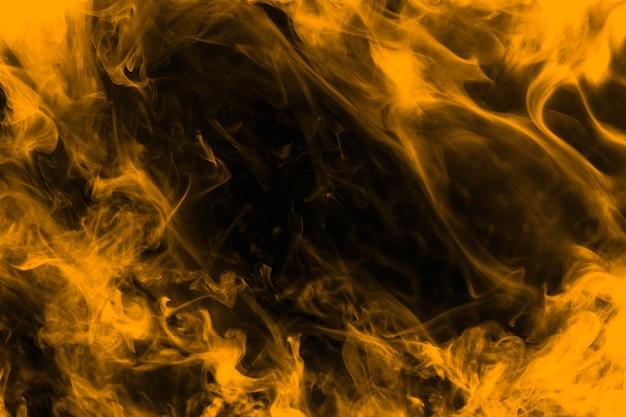 Fond de fumée néon, texture en orange