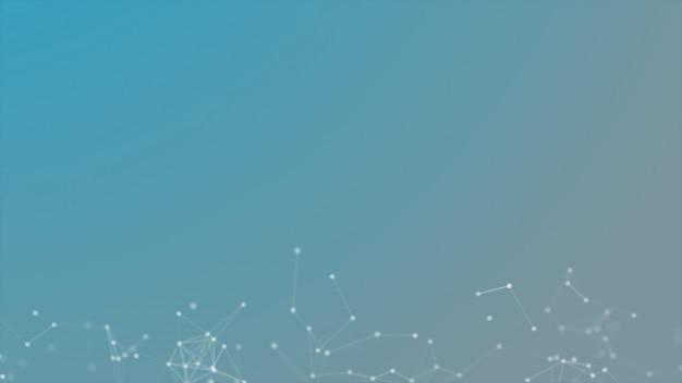 Fond futuriste de technologie lignes et points