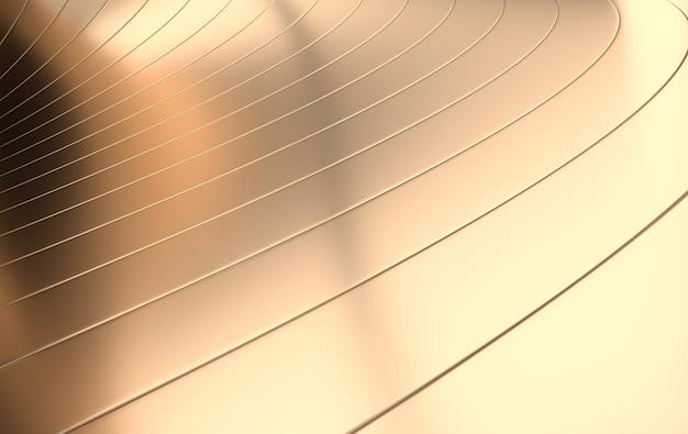 Fond futuriste de vagues dorées