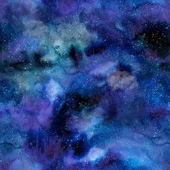 Fond de galaxie aquarelle sans soudure