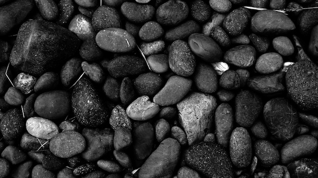Fond de galets noirs