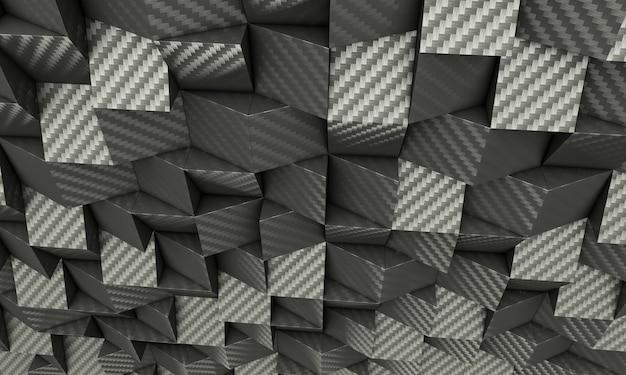 Fond géométrique 3d en carbone