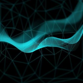 Fond géométrique abstrait avec un design futuriste
