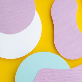 Fond géométrique abstrait papier liquide