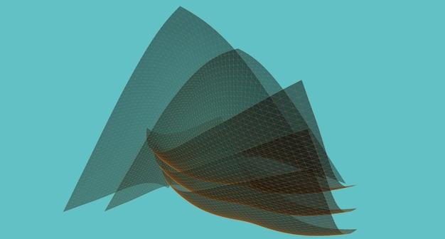 Fond géométrique, croquis abstrait, architectural, construction, filaire