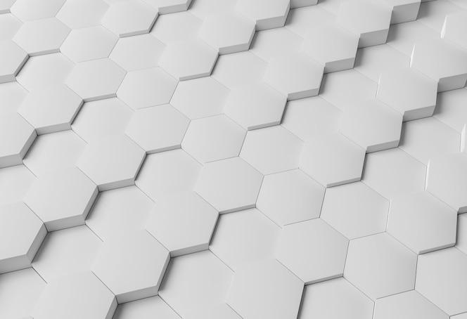 Fond géométrique moderne blanc à angle élevé