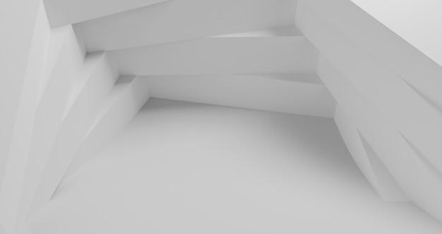 Fond géométrique moderne avec des formes blanches