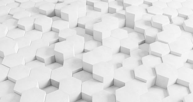 Fond géométrique moderne avec hexagones blancs