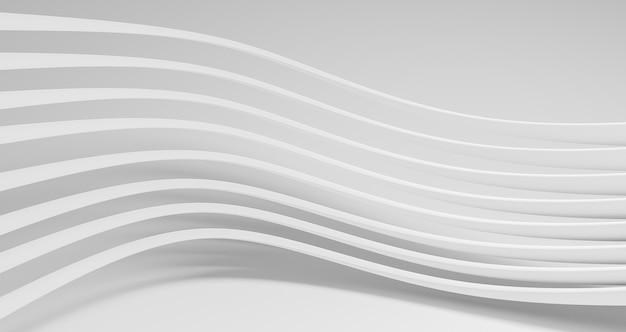 Fond géométrique moderne avec des lignes rondes