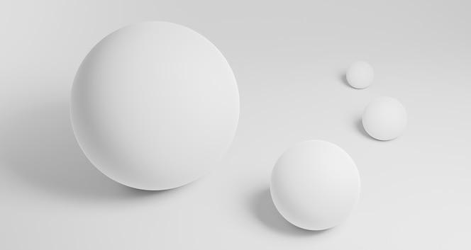 Fond géométrique moderne avec des sphères