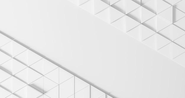 Fond géométrique moderne avec des triangles blancs