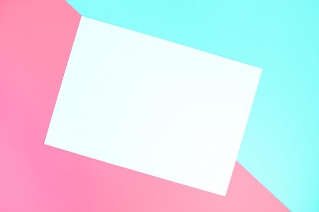 Fond géométrique en papier de couleur pastel