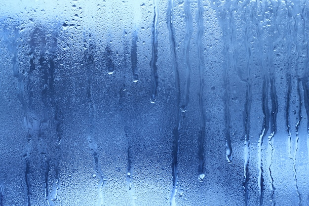 Fond de goutte d'eau bleue naturelle