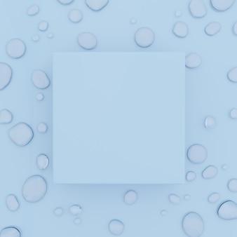 Fond de gouttes d'eau de prise de vue de studio de rendu 3d pour la publicité de nourriture et de boisson de soin de peau de beauté