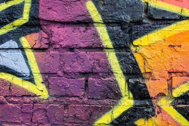Fond de graffiti mural créatif abstrait