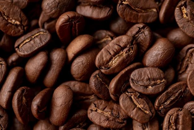 Fond de grains de café brun rôtis