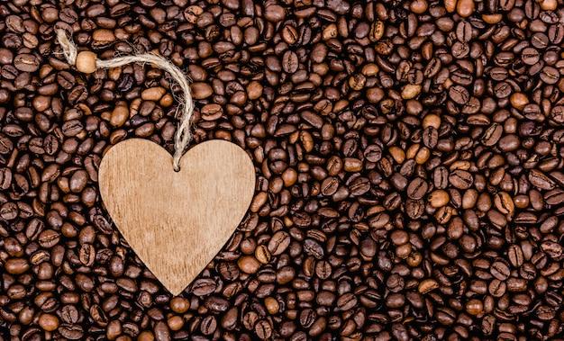 Fond de grains de café torréfié