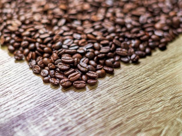 Fond de grains de café torréfiés