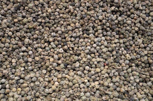 Fond de grains de poivre noir. vue de dessus.