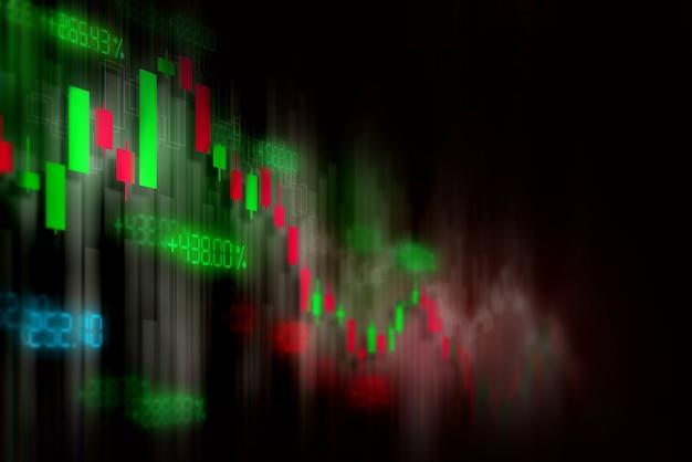Fond de graphique financier boursier, écran de technologie