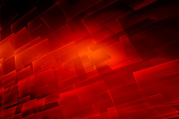 Fond graphique thème abstrait rouge avec des surfaces transparentes