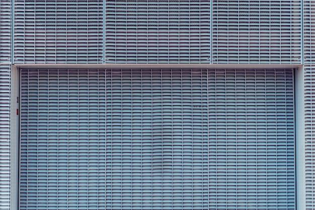 Fond de grille en métal gris