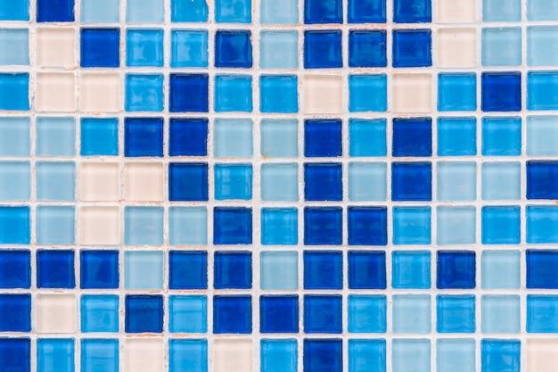 Fond de grille de tuile bleue
