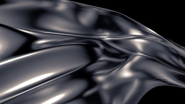 Fond gris luxueux avec plis, rideaux et tourbillons. illustration 3d, rendu 3d.
