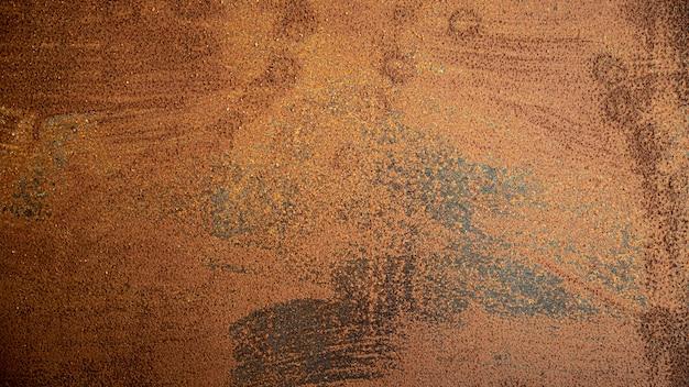 Fond de gros plan en acier brun industriel