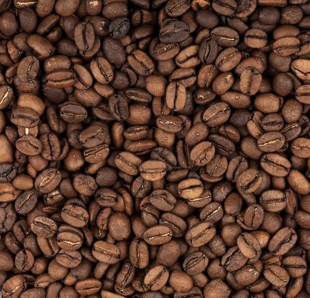 Fond gros plan sur les grains de café