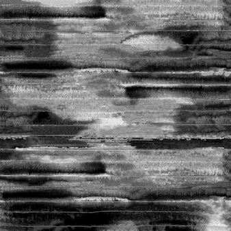 Fond grunge flou noir et blanc. rayures noires aquarelles sur fond blanc