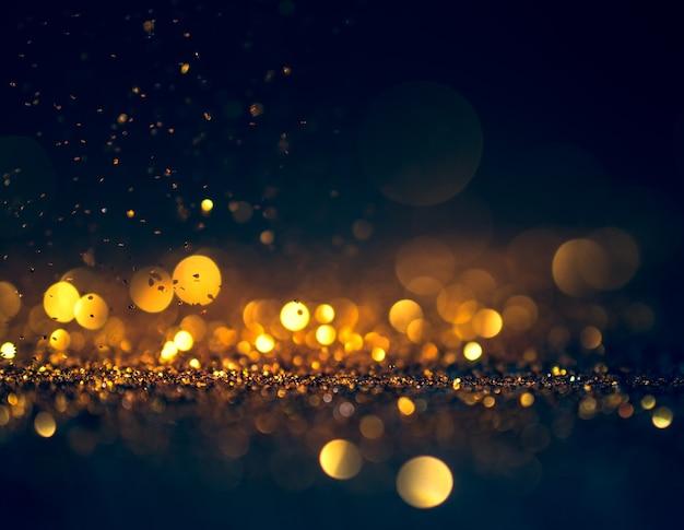 Fond de grunge de lumières scintillantes, paillettes défocalisé abstraites lumières scintillantes et étoiles