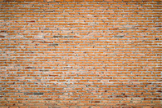 Fond de grunge de mur de briques rouges, pour la décoration d'intérieur