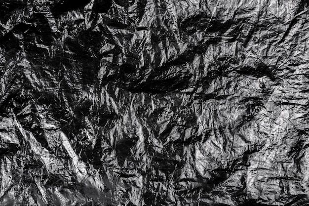 Fond grunge en plastique froissé foncé