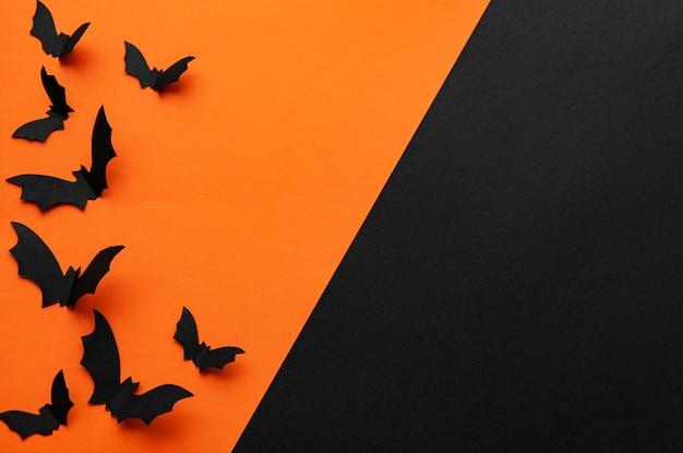 Fond d'halloween avec des chauves-souris