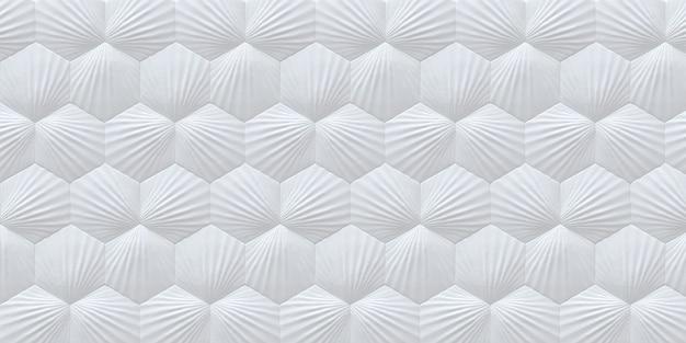 Fond hexagonal blanc avec une ombre fond blanc avec effet 3d panneau décoratif