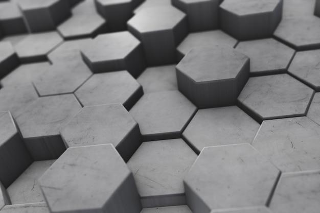 Fond hexagonal avec profondeur de champ