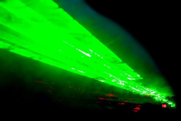 Fond horizontal abstrait effet laser