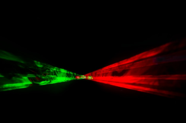 Fond horizontal laser optique