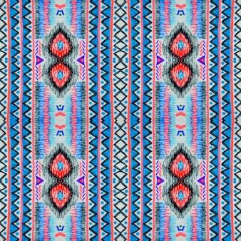 Fond d'ikat. motif aztèque sans couture. ornement ethnique. texture tribale.