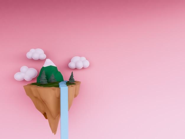 Fond d'île flottante pastel