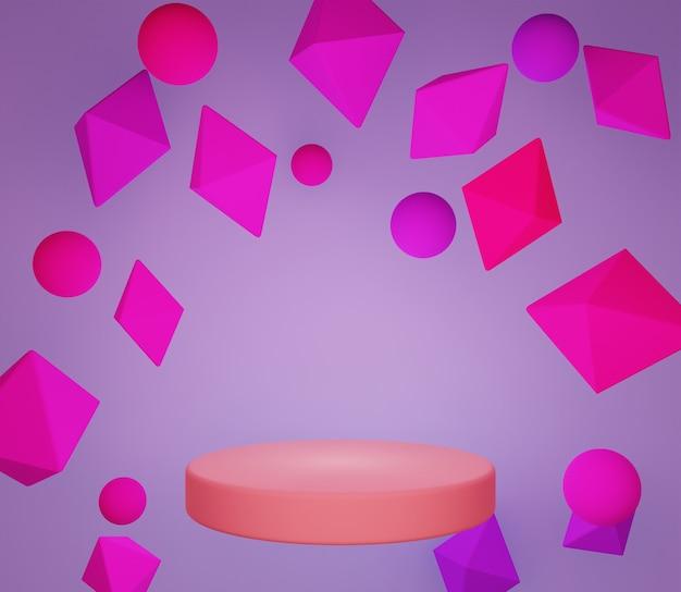 Fond d'illustration 3d coloré simple minimaliste