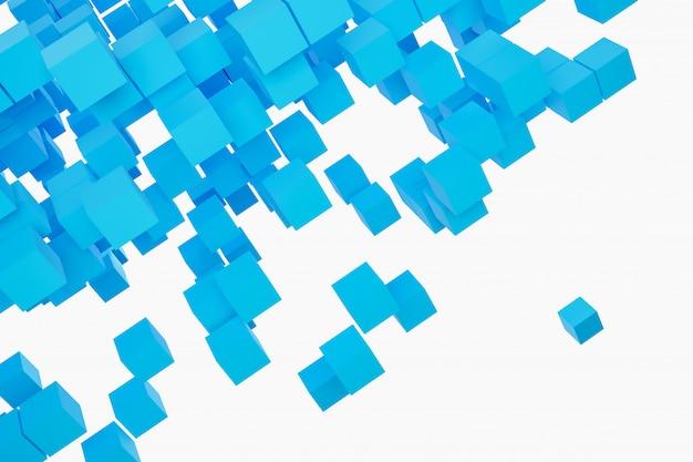 Fond d'illustration 3d, texture d'un grand nombre de formes géométriques de colombes de différentes tailles et formes.