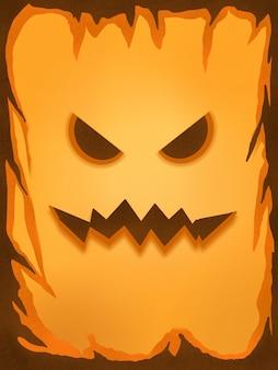 Fond d'illustration de citrouille jaune halloween