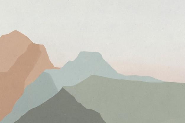 Fond d'illustration de paysage de montagnes vertes